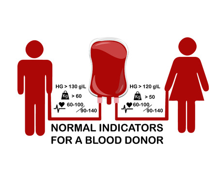 Infographics on the subject of blood donation, vector