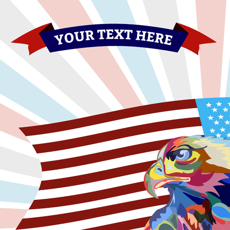 Abstract image of an eagle, a symbol of the United States, vector