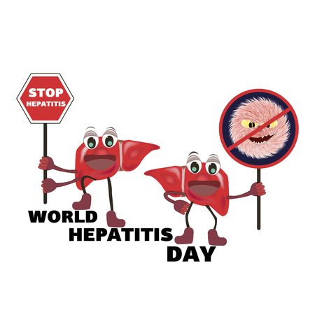 Concept for World Hepatitis Day on an isolated background , vector