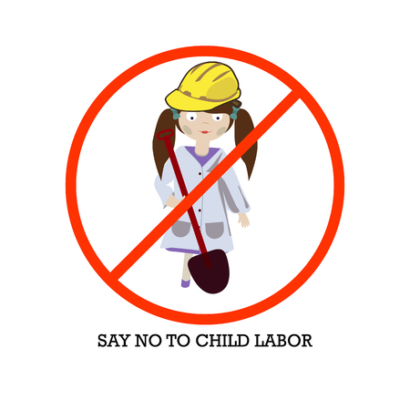Concept for a World Day Against Child Labour, vector on isolated background