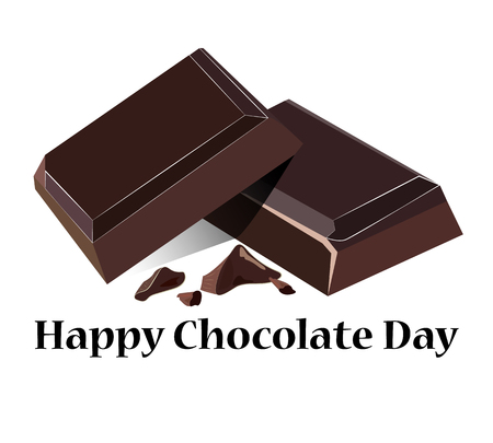 Vector illustration on a theme of World Chocolate Day, on isolated background