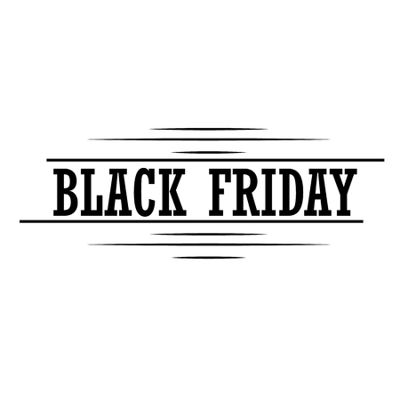 Black Friday inscription design template on isolated background. Vector illustration.