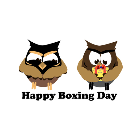 Concept for Boxing Day on isolated background, vector illustration