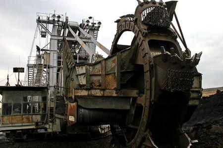 mining excavator Stock Photo