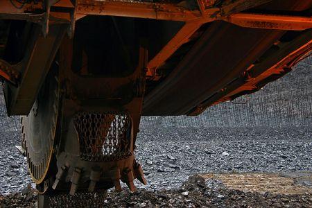 pelles minières  Banque d'images