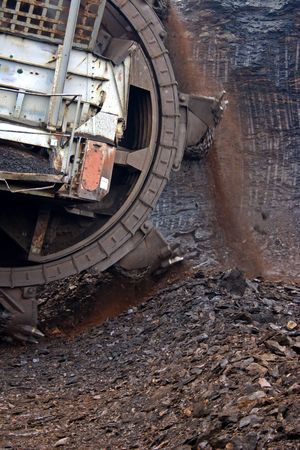 mining excavator Standard-Bild