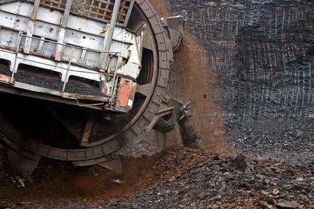 Excavatrice d'extraction Banque d'images - 934303