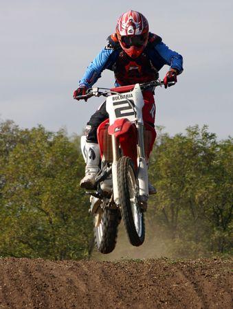 Motocross saut  Banque d'images - 934320