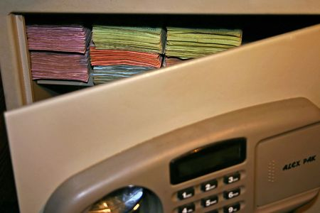 open safe with money Stock Photo - 940403