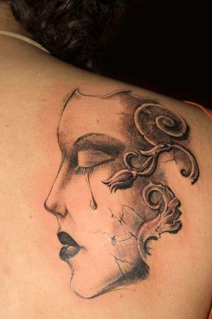 tatouage: Tattoo sur un retour de l'homme
