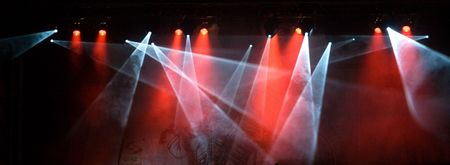 colorful lights: colorful lights in a concert stage