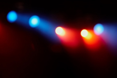 grooves: colorful lights in a concert stage