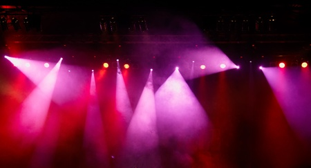 colorful lights in a concert stage photo