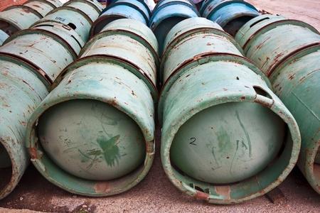 Gas Bottles Industrial Size, chlor bottles  photo