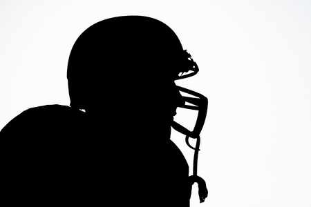 silhouette of a football player, silhouette of rugby players photo