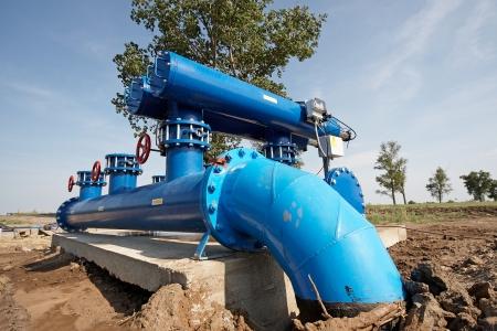 filtre automatique de traitement de l'eau, filtration de l'eau Banque d'images