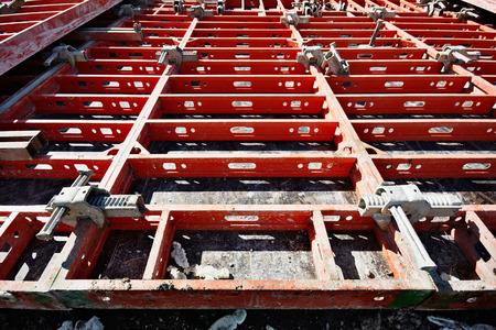 formwork: construction formwork, building reinforcement, construction equipment at building site