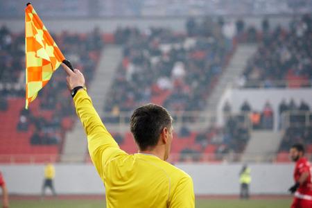 arbitros: Árbitro de fútbol asistente, árbitro de fútbol en el estadio