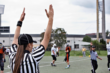 American football referee, rugby referee photo