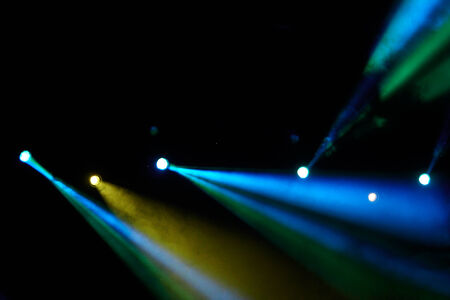 colorful concert lighting on a dark background