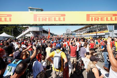 formula one: Monza, Italia - September 06: Formula One audience, on the track after the race.Autodromo Nazionale Monza: 04.-06.09.2015 - FORMULA 1 GRAN PREMIO DITALIA 2015, Monza