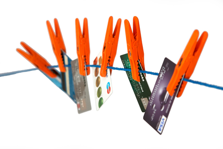 Credit cards. Concepts of personal loan, finance, banking, debt. Clipping path