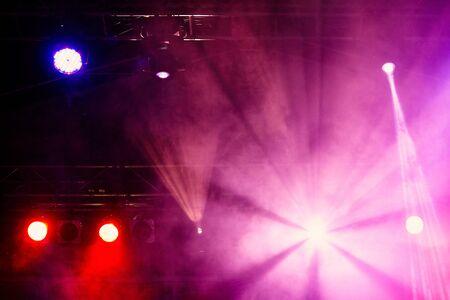 Stage lights on concert. Concert light show Banco de Imagens