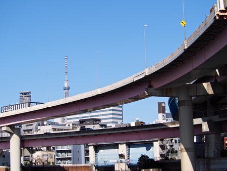 sumida ku: Looked up from the bottom, the Ryougoku-junction