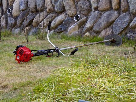 芝刈り機芝生の上