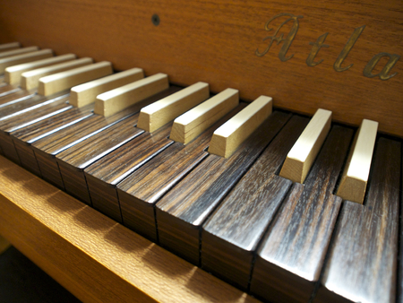 Keyboard of harpsicord