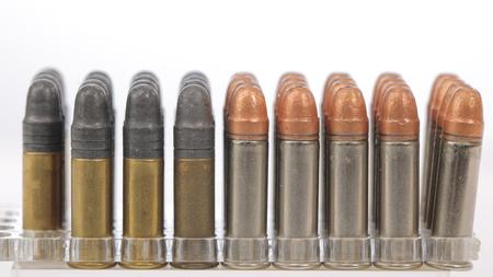 ammunition for firing a gun at targets Stock Photo