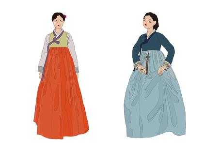 Korean woman vector