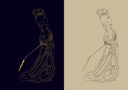 Chinese Tang Dynasty woman Illusztráció
