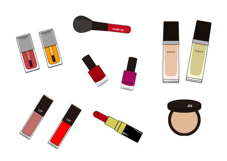 A variety of cosmetics Illustration