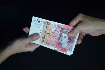 pound: Pay Pound Currency Money Stock Photo
