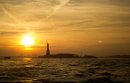 Sunset at Liberty Statue, New York