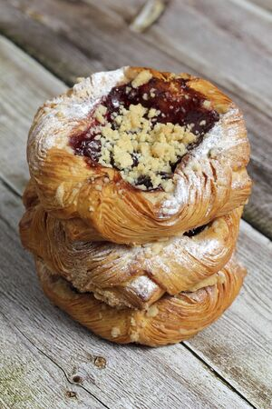 Dark Cherry Danish Stock Photo