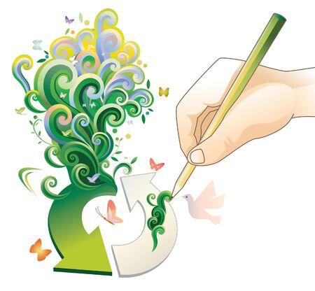 Green and recycling concept Reklamní fotografie