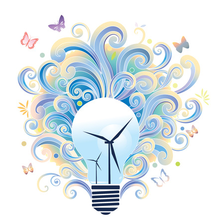 energia eolica: La energ�a e�lica y la conservaci�n del medio ambiente Vectores