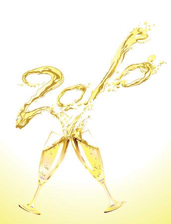 champagne celebration: Celebration toasts with champagne Illustration