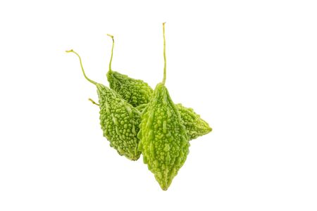 balsam: Green Balsam Apple isolated on white background with clipping path