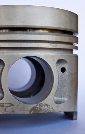 Close up piston s diesel engine  photo