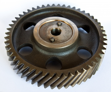 Gear wheels on white background  photo