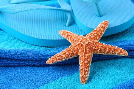 Starfish and flip flops Stock Photo - 3003655