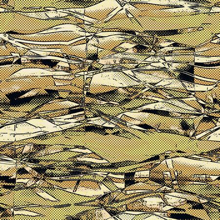 style: comic style halftone pattern