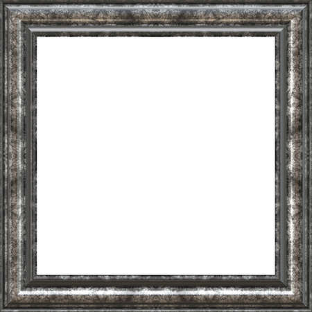 silver frame: Antique picture frame