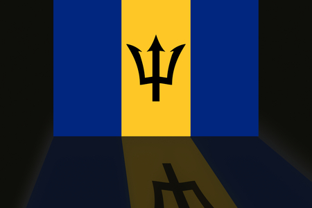 shaddow: Flag of Barbados Stock Photo