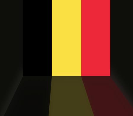 Drapeau de la Belgique Banque d'images - 25036332
