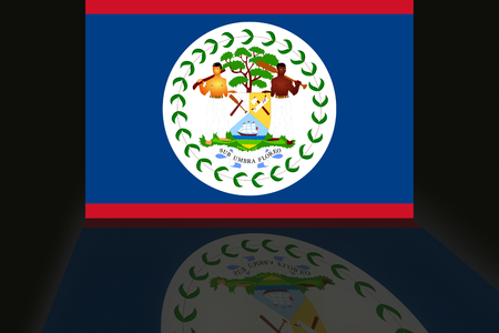 shaddow: Flag of Belize Stock Photo