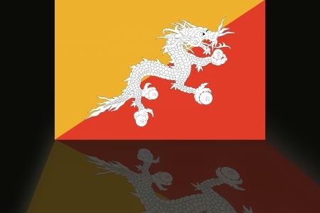 shaddow: Flag of Bhutan Stock Photo